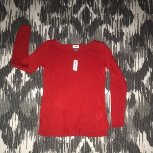 Women's red old navy long sleeve